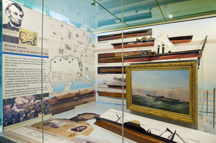 Blockade Runners display, Riverside Museum