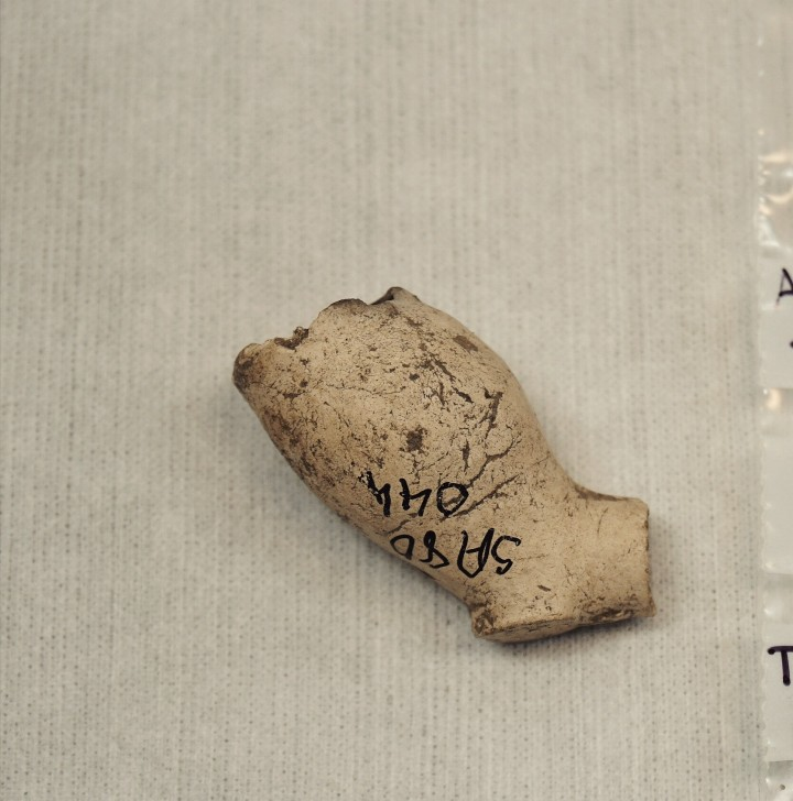 Clay pipe bowl from an excavation in Glasgow