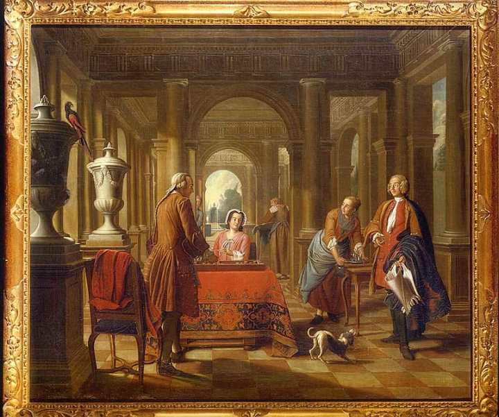Conversation Pieceby Peter J. Horemans (Private collection)