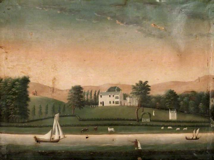 Image of painting of Stobcross House, home of Matthew Orr