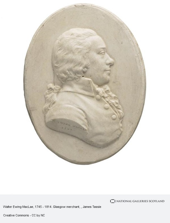 A photograph of a medallion of Walter Ewing Maclae by James Tassie.