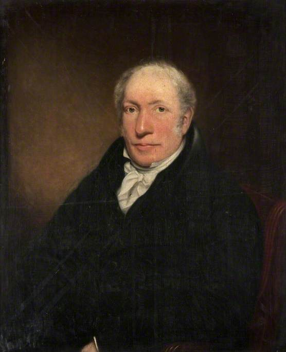A photograph of a painting of Humphrey E. Maclae of Cathkin in the collection of Glasgow Museums