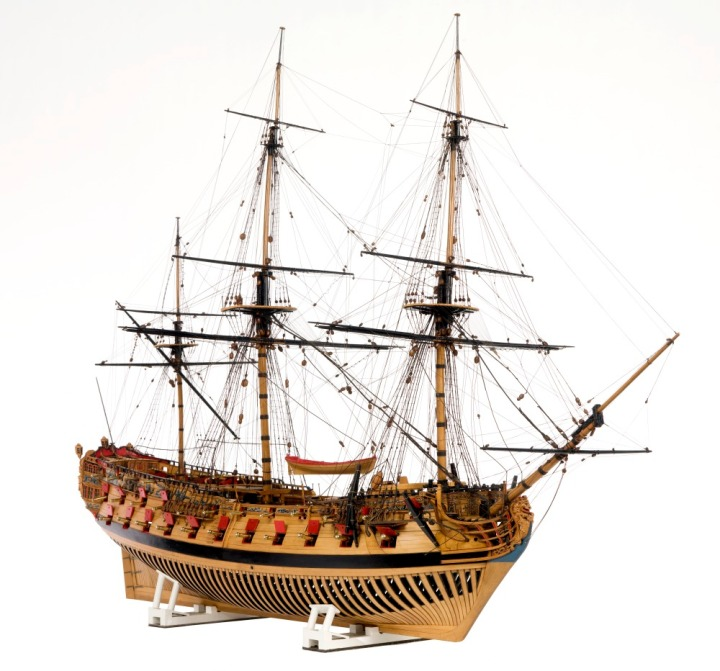 Photograph of a model of HMS Oxford